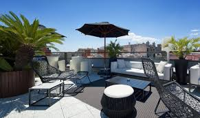 Terrace - High Class Hotel Claris in Barcelona 2