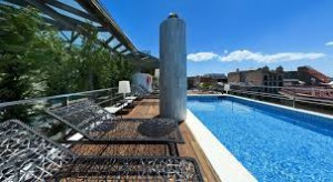 Terrace - High Class Hotel Claris in Barcelona