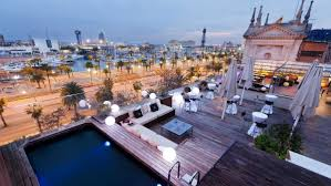 Terrace high class Hotel Casa Fuster in Barcelona 2