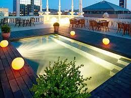 Terrace high class Hotel Casa Fuster in Barcelona 1